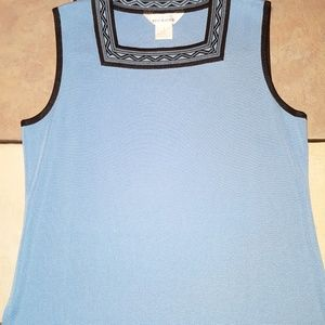 Exclusively Misook Sleeveless Top size Large